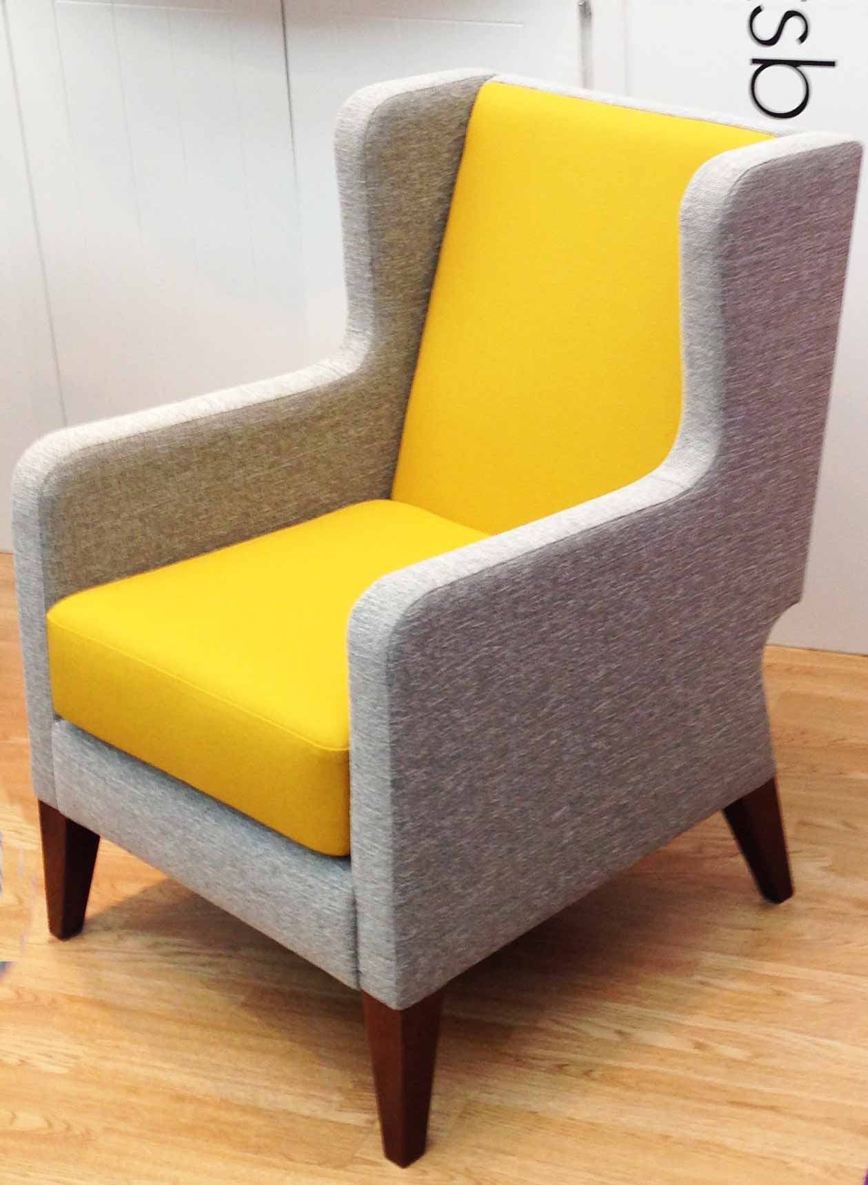 Yellow and grey chair winda 7 furniture for Yellow and gray design